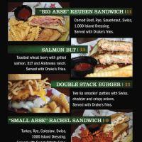 St Pats menu
