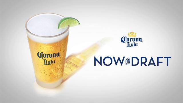 Corona Light on draft at Drake's Huntsville!