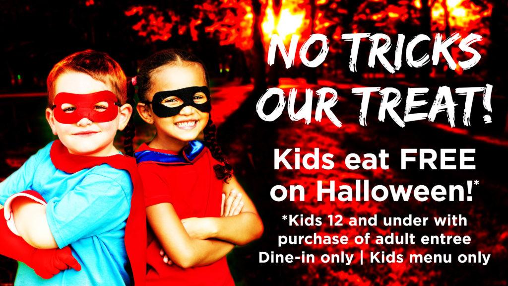 Kids Eat Free on Halloween at Drake's